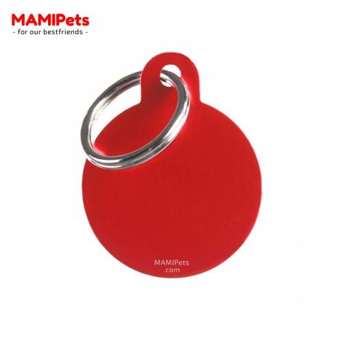 Targhetta - Medaglietta Cerchio Medio Rosso