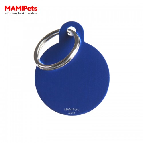 Targhetta - Medaglietta Cerchio Medio Blu