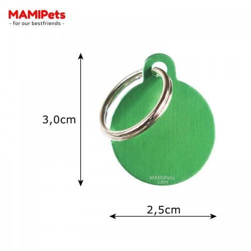 Misure Targhetta - Medaglietta Cerchio Verde Piccolo