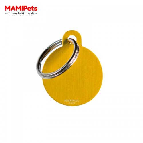 Targhetta - Medaglietta Cerchio Oro Piccolo