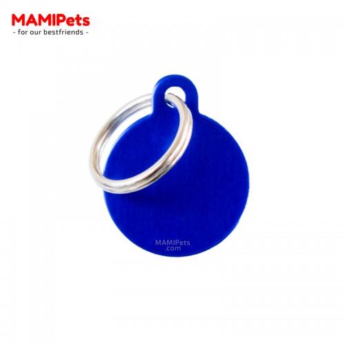 Targhetta - Medaglietta Cerchio Blu Piccolo