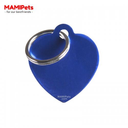 Targhetta - Medaglietta Cuore Medio Blu