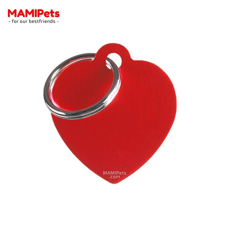 Targhetta - Medaglietta Cuore Medio Rosso