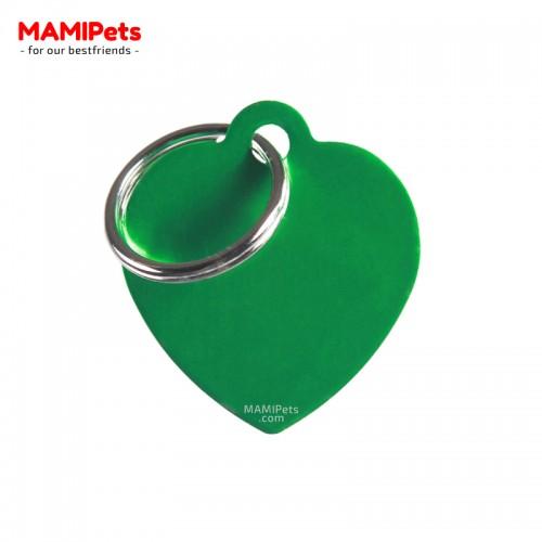 Targhetta - Medaglietta Cuore Medio Verde