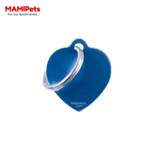 Targhetta - Medaglietta Cuore Blu Piccolo