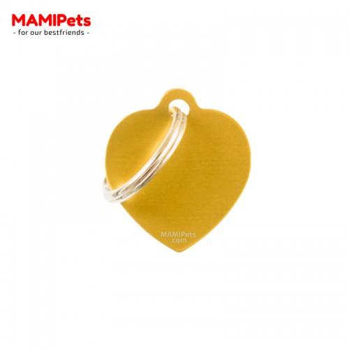 Targhetta - Medaglietta Cuore Piccolo Oro