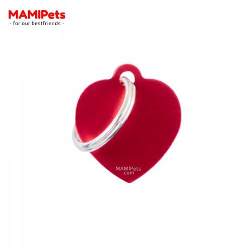 Targhetta-Medaglietta CUORE Piccolo Rosso Alluminio