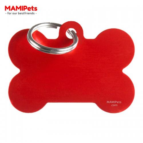 Targhetta - Medaglietta Osso Grande Rosso