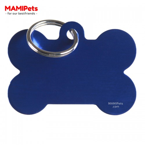 Targhetta - Medaglietta Osso Grande Blu