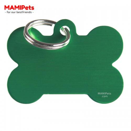 Targhetta - Medaglietta Osso Grande Verde