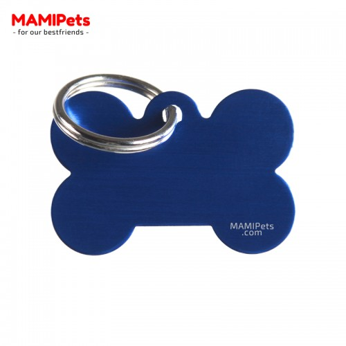 Targhetta - Medaglietta Osso Medio Blu
