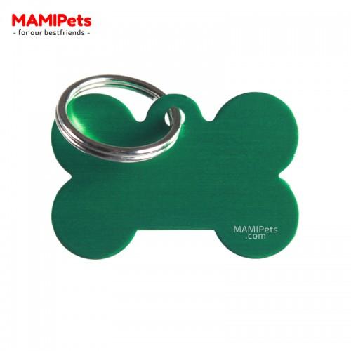 Targhetta-Medaglietta OSSO Medio Verde Alluminio