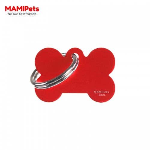 Targhetta - Medaglietta Osso Piccolo Rosso