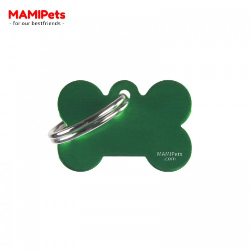 Targhetta-Medaglietta OSSO Piccolo Verde Alluminio