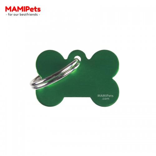 Targhetta - Medaglietta Osso Piccolo Verde