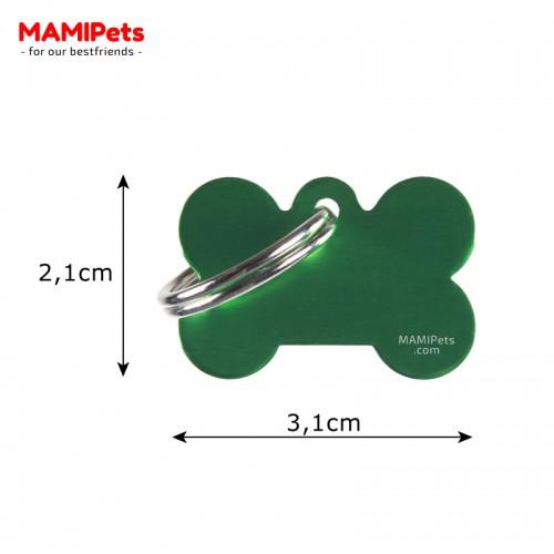 Misure Targhetta - Medaglietta Osso Piccolo Verde