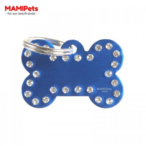 Targhetta - Medaglietta Osso CHARME Blu Alluminio