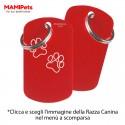 Targhetta-Medaglietta DOG DESIGN Grande Rossa Alluminio