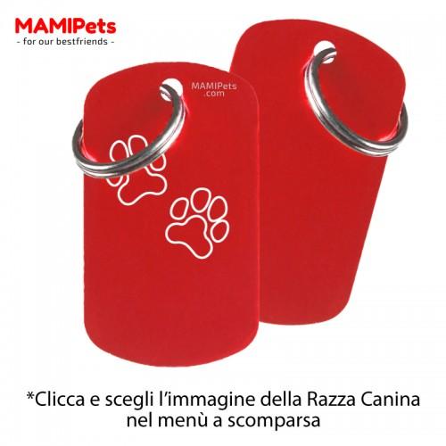 Targhetta - Medaglietta Dog Design Grande Rossa