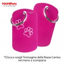 Targhetta-Medaglietta DOG DESIGN Grande Fucsia Alluminio