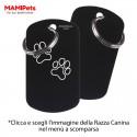 Targhetta-Medaglietta DOG DESIGN Grande Nera Alluminio