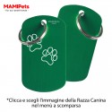 Targhetta-Medaglietta DOG DESIGN Grande Verde Alluminio
