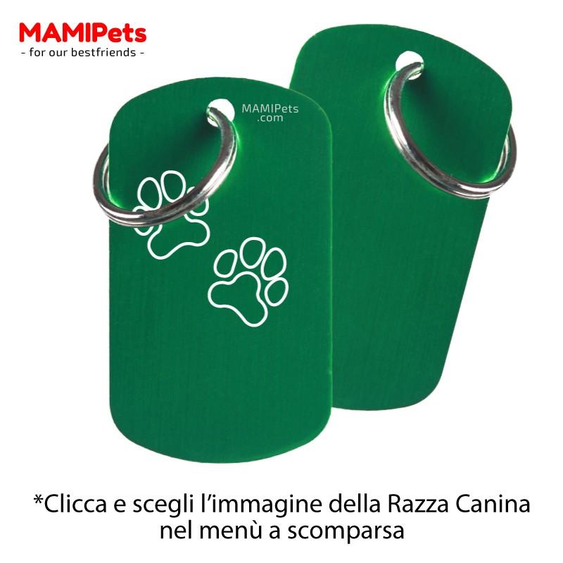 Targhetta - Medaglietta Dog Design Grande Verde