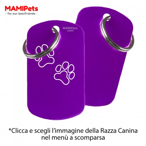 Targhetta - Medaglietta Dog Design Grande Viola