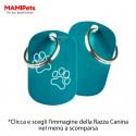 Targhetta-Medaglietta DOG DESIGN Media Celeste Alluminio