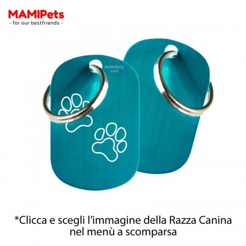 Targhetta - Medaglietta Dog Design  Media Celeste