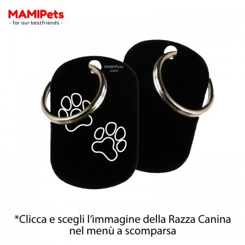 Targhetta-Medaglietta DOG DESIGN Media Nera Alluminio