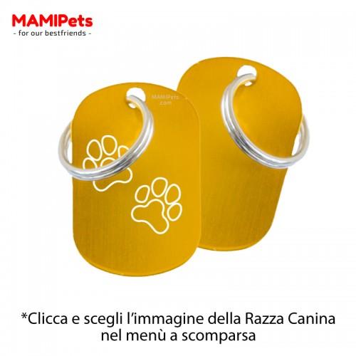 Targhetta - Medaglietta Dog Design  Media Oro