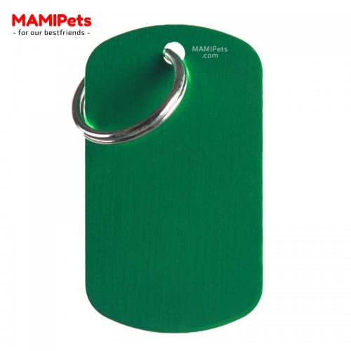 Targhetta-Medaglietta PIASTRINA Grande Verde Alluminio