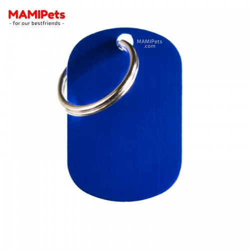 Targhetta-Medaglietta PIASTRINA Media Blu Alluminio