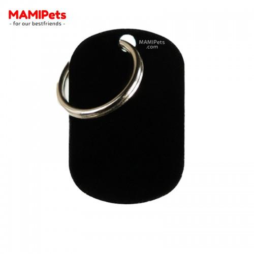 Targhetta-Medaglietta PIASTRINA Media Nera Alluminio