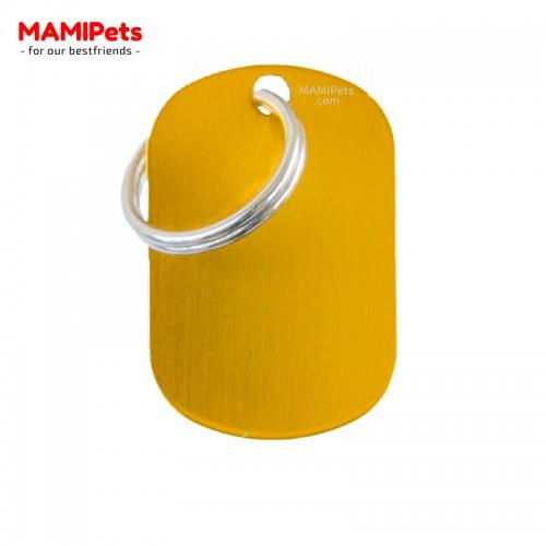 Targhetta-Medaglietta PIASTRINA Media Oro Alluminio