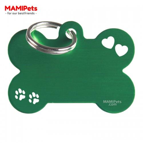 Targhetta-Medaglietta Osso SPECIAL DESIGN Grande Verde Alluminio