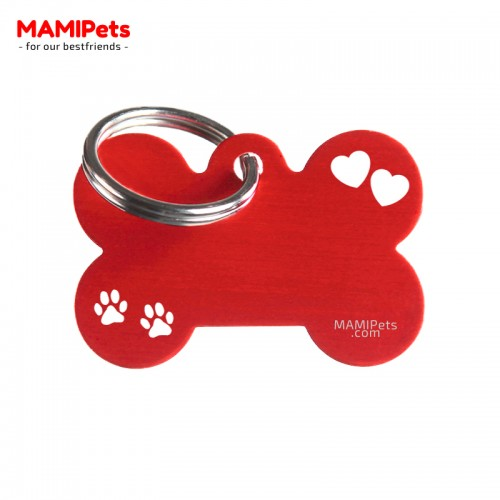 Targhetta-Medaglietta Osso SPECIAL DESIGN Media Rossa Alluminio