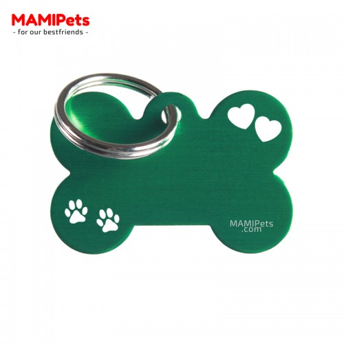 Targhetta-Medaglietta Osso SPECIAL DESIGN Media Verde Alluminio