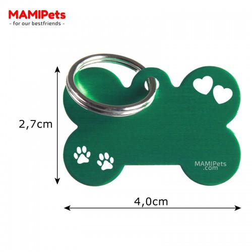 Misure Targhetta - Medaglietta Osso Medio Special Design Verde