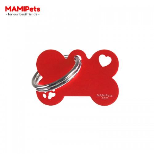 Targhetta-Medaglietta Osso SPECIAL DESIGN Piccola Rossa Alluminio