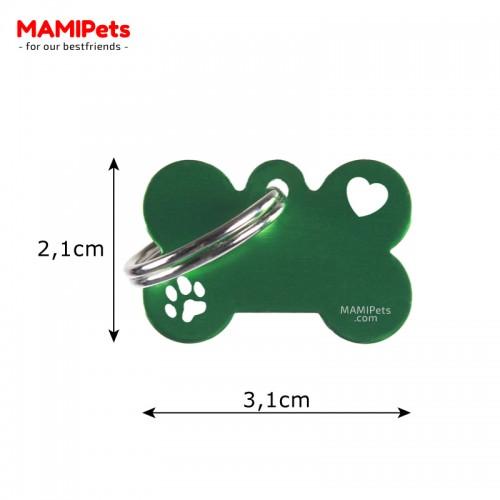 Misure Targhetta - Medaglietta Osso Piccolo Special Design Verde