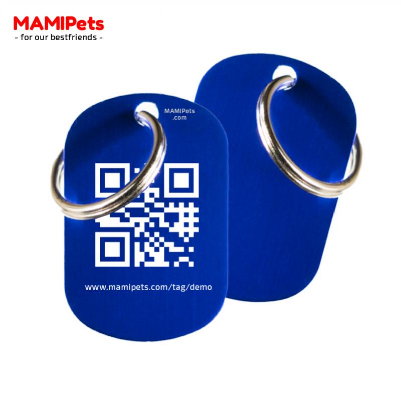 Medaglietta QR-Code Media Blu Alluminio