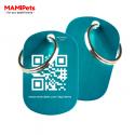 Targhetta - Medaglietta QR-CODE Media Celeste Alluminio