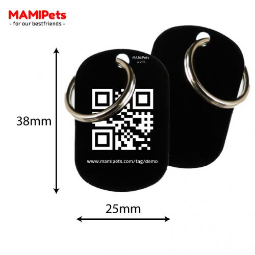 Medaglietta QR-Code Media Nera Alluminio