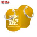 Targhetta - Medaglietta QR-CODE Media Oro Alluminio