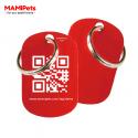 Targhetta - Medaglietta QR-CODE Media Rossa Alluminio