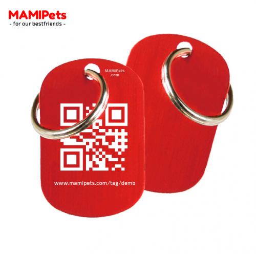 Medaglietta QR-Code Media Rossa Alluminio