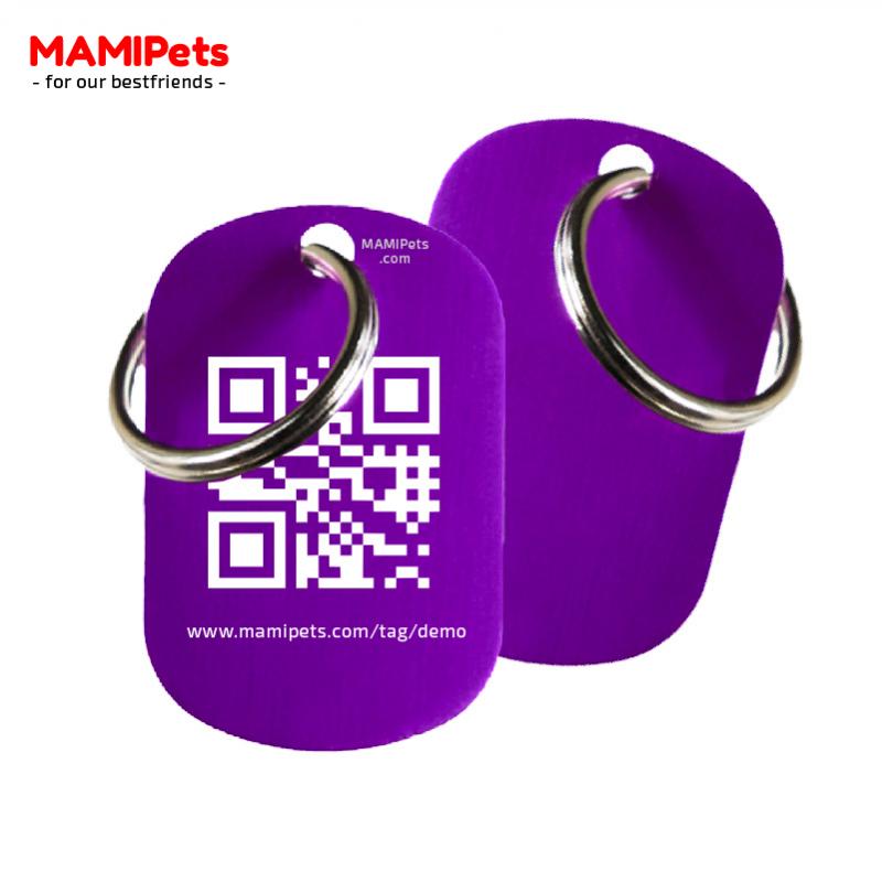 Medaglietta QR-Code Media Viola Alluminio