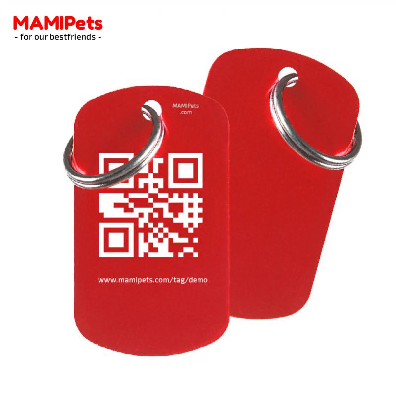 Medaglietta QR-Code Grande Rossa Alluminio
